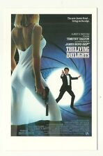 James Bond postcard - 'The Living Daylights' - U.S. poster