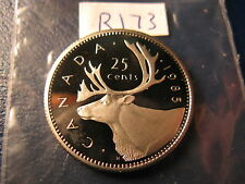 Canada 1985 25 Cent Gem Perfect Coin Fom Mint Set ID#R173.