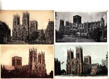 Z202.Vintage Postcards x 4. Exterior Views of  York Minster.