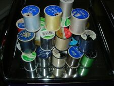 LOT OF 30 SPOOLS OF THREAD--DIFFERENT COLORS & MANUFACTURERS--#P6