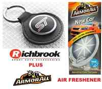 Richbrook Ford ST Logo Black Leather Key Ring / Fob 5500.38 & Armorall Fresh