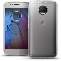 Etui Gel TPU Housse Coque pour Motorola Moto G5S Plus Case + Film de Protection