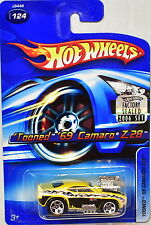 HOT WHEELS 2006 'TOONED '69 CAMARO Z28 #124 YELLOW FACTORY SEALED