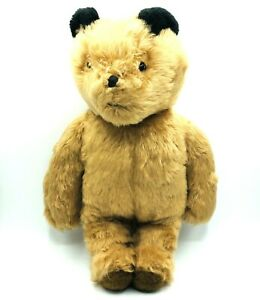 Vintage Eden Jointed Bear Plush Collectible Stuffed Toy Firm Thick Seams Haiti