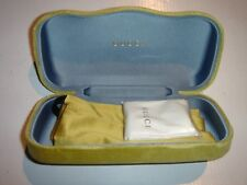 GUCCI Reading & Sunglasses HARD Case Lime Velvet w/ Cloth &Pouch NEW & AUTHENTIC