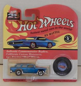 1955 Chevy Nomad Station Wagon Metallic Aqua Hot Wheels Classic 25th Anniversary