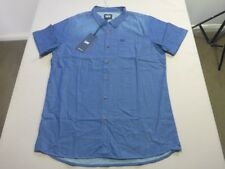 088 MENS NWT LEE 'SIMPLE SHIRT' BLUE DENIM LOOK S/S SHIRT SZE MEDM $90 RRP.
