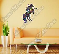 "Horse Abstract Colorful Mustang Gift Wall Sticker Room Interior Decor 18""X25"""