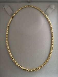 Collier maille palmier or jaune 18 carats 750 - 16 grs  18K gold