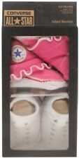 Converse all Star Baby Chucks Pink White Socks 0-6 Months Baby Gift Box