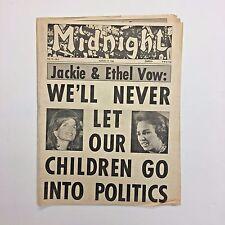 Midnight Magazine Tabloid Newspaper 1968 Jackie Onassis Ethel Kennedy JFK RFK