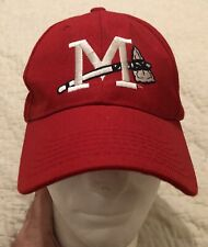 Mississippi Braves Tomahawk Logo Red Cap Hat Chop Out ALS Awareness Adjustable