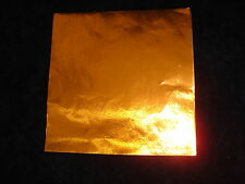 """4"""" x 4"""" Orange Foil Wrappers for Chocolate and Candy"""