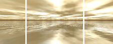 """Large Wall Prints Triple Canvas Pictures Neutral Still Calm  20""""x Over 40"""" Long"""