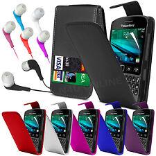 Étui A Rabat En Cuir Pu Film Protecteur Oreillette Earbud Pour Blackberry 9720