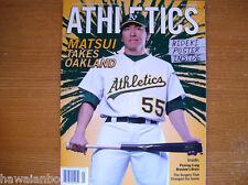 Athletics A's Apri/May 2011 Magazine/Program HIDEKI MATSUI & FREE POSTER INSIDE