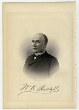 HON.WILLIAM A.RUSSELL Lawrence, Massachusetts MA Steel Engraving Portrait 1888