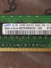 2GB = 512MB X4 DDR2 1RX8 PC2-5300 64X8 PC  DESKTOP RAM  LOW DENSITY  NON-ECC