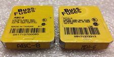 Lot Of 10, Buss Fuses MDA-6 & ABC-8, (MDA6, ABC8), Shipsameday#1328A20