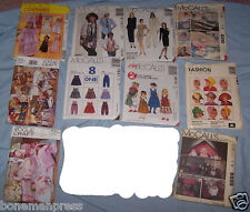 Lot 11 McCall's Vogue Craft MIXED Costumes Dollhouse 1979 AS IS*H