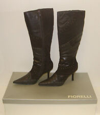 FIORELLI WOMENS POINTY WINTER BOOTS SIZE 7.5 LEATHER LADIES CASSIDY CHOC rrp$279