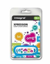Integral USB 2.0 Expression Flash Drive - 8GB TXT . INFD8GBXPRTXT
