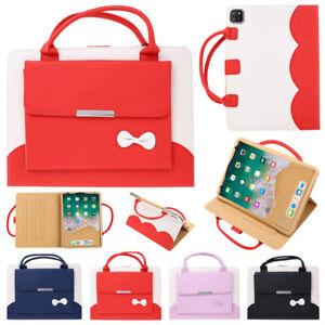 Cute Leather Handbag Stand Case Cover Fr iPad 10.2 Mini 9.7 Air 10.9 Pro 11 12.9