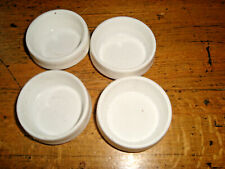 4 x White Castor Cups