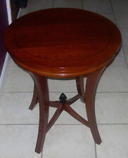 "BOMBAY OUTLET  ART DECO STYLE END TABLE  ONE  22""  ROUND   C. 2005"