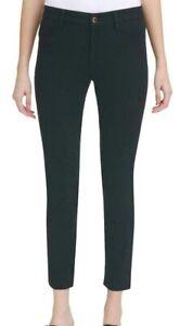 Calvin Klein Womens Pants Black Size 12 Slim Straight-Leg Stretch Twill $79 567