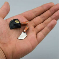 Mini Stainless Butcher Knife Pendant Keyring Small Pocket Keychain Gift With Box