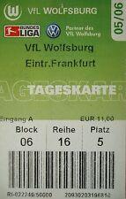 TICKET 2005/06 VfL Wolfsburg - Eintracht Frankfurt