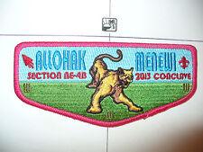 OA Allohak Menewi Lodge 57,S-7,2013 NE4b Conclave Flap,DPK,67,130,242,275,540,PA