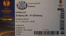 MINT Ticket UEFA el 2013/14 Esbjerg fB-IF Elfsborg