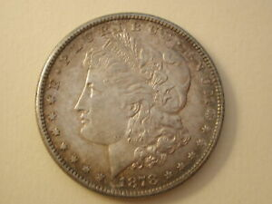 1878-S U.S Morgan Silver Dollar Select Uncirculated 7 TF Tail Feathers