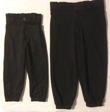 Rawlings Youth Classic Fit Beltloop Baseball Pant - Black - XS, S, M, L