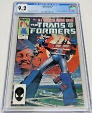 Transformers #1 Marvel Comics 9/84 CGC Graded 9.2 NM- White Pages Origin