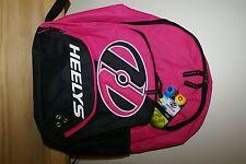 Heely's Medium Backpack BookBag Rebel Pink w/ Black + White Girls Womens