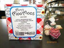 "Mary Moo Moos #651729 ""Little Drumherd Boy"" Cow W/Milk Pail Drum W/ Box"