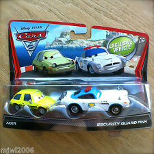 Disney PIXAR Cars 2 SECURITY GUARD FINN & ACER diecast 2PK Tokyo Airport Getaway