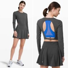 Lululemon Runnin Pretty Dress Graphite Grey Size 10 NWT