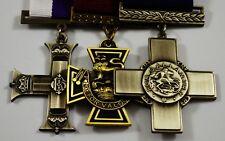 3 Full Size Replica WW1 WW2 Service/War Medals Victoria/Military/George Cross