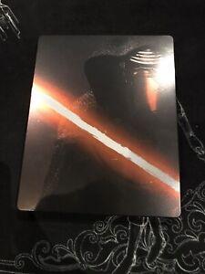 The Star Wars - Force Awakens STEELBOOK Blu Ray (Pre-owned)