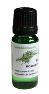 Rosemary Essential Oil 10ml - Rosmarinus officinalis - CAS 8000-25-7 by NPOW™