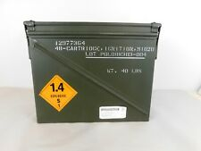 Military Surplus Large Ammo Can 40 Ignition Cartridge Igniter Steel Box  1 cu.ft