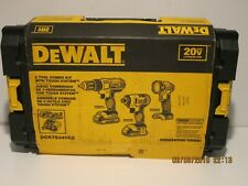 DEWALT DCKTS340C2 20V-Max 3 Tool Combo Kit W/Tough System Case-NISB, FREE SHIP!