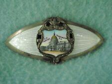 Washington DC Antique Brooch Sterling Enamel Guilloche Victorian Vintage