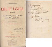 C1 Charles MAURRAS Kiel et Tanger 1913 RELIE Envoi DEDICACE Signed