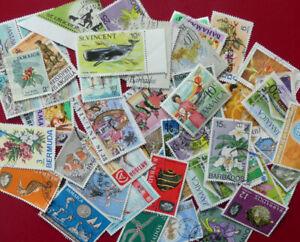West Indies mix of around 50 QEII era stamps - see details