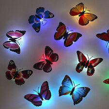 Nuove 7 colori cambiano farfalla magia LED notte della luce camera parete Decor